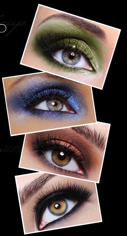 EYE MAKEUP COLORS for brown , blue, green and hazel eyes